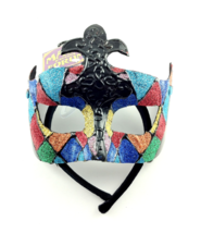 MASQUERADE BALL MASK FETISH HALLOWEEN ROLE-PLAY COLORFUL - £18.97 GBP