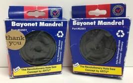 (New) ARTU USA #02951  Bayonet Mandrel Hole Saw Lot of 2 - $17.71