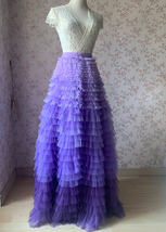TIERED Tulle Skirt Wedding Tulle Outfit Women Plus Size Layered Long Tutu Skirt  image 8