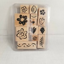 """Stampin' UP!  """"Fanciful Flowers """" 1999 Retired set of Thirteen Stamps  - $9.89"""
