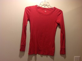 Soft Peachy Pink Simple Long Sleeve Top by the 'GAP' Sz Small