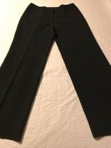 Ann Taylor Women's Pants Black Pinstripe Fully Lined Dress Pants Size 10 X 30 image 2