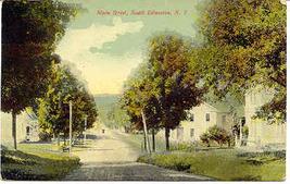 Main Street South Edmonton New York 1929 Post Card - $2.00