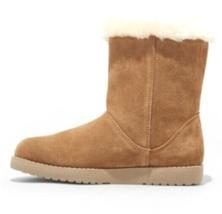 Universal Thread Womens Daniah Chestnut Genuine Suede Faux Fur Winter Snow Boots image 2