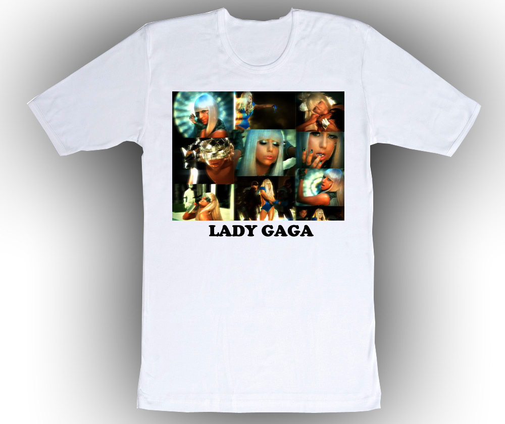 Personalized Custom Lady Gaga Birthday T-Shirt Gift #4