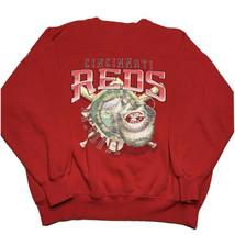 Vintage 90s Cincinnati Reds Graphic Crewneck Sweatshirt Men's Size Large... - $39.53
