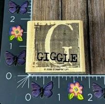 Stampin' Up! G Giggle Rubber Stamp 2006 Framed Letter Wood #J129 - $2.48