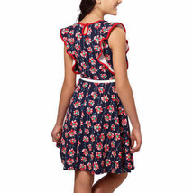 NEW Paper Doll Girls' Dress, Red - Navy Floral Various sizes image 2