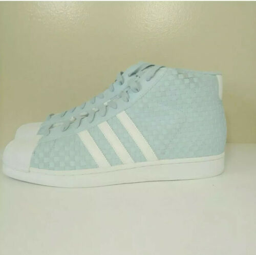 Adidas Pro Model Woven Shoes BY4169 Icey Blue/Running White- Size 11  Shell toe image 7