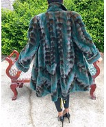 New Designer Sable brown green Semi Sheared plucked Mink Fur jacket coa... - $1,599.00