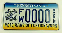 Pennsylvania Veterans Of Foreign Wars Sample License Plate - $39.99