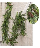 Christmas Green Pinecone Prickly Pine Garland 6ft  - $44.00