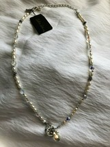 Cookie Lee Silver Colored Necklace Pearl and Crystal Beads NWT - $12.00