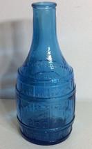 """7.5"""" Vintage Blue Glass Root Bitters Bottle Jamaica Ginger Dr Chandler's... - $11.64"""