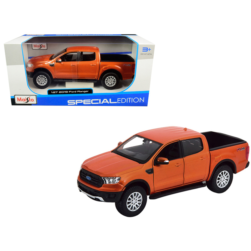 Primary image for 2019 Ford Ranger FX4 Off Road Pickup Truck Copper Orange Metallic 1/27 Diecast M