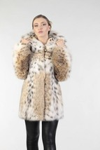 Women's Bobcat  Lynx Fur Coat LEDA - $3,465.00