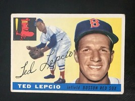 1955 Topps Baseball Card #128 TED LEPCIO - $3.91