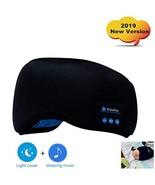Bluetooth Sleep Eye Mask, 2019 New Version Wireless Headphones Sleeping ... - $18.05
