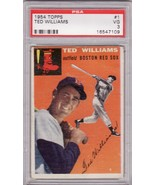 Ted Williams 1954 Topps #1 Baseball Card PSA 3 VG - $149.00