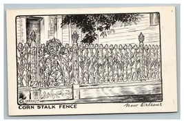 Vintage 1950's Postcard The Cornstalk Fence Royal Street New Orleans Lou... - $15.17