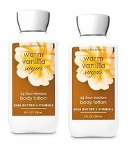 Bath and Body Works 2 Pack Warm Vanilla Sugar Super Smooth Body Lotion 8 Oz - $37.98