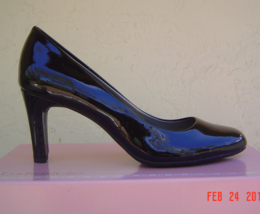 New Bandolino Black Beige Patent Leather Pumps Size 8 Size 8.5 M $69 - $32.99