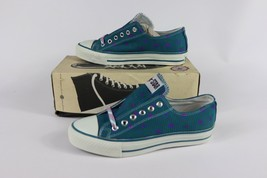 Vtg New Converse Mens 4 Wmns 6 Longjohn Print A/S Canvas Ox Chuck Taylor Shoes image 1