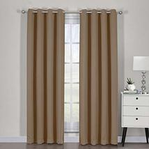 """54""""x84"""" Pair Cappuccino Blackout Weave Curtain Panels with Tie Backs Pai... - $55.44"""