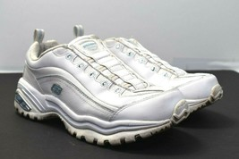 Skechers Women's Premium White Light Blue Rhinestone Sneakers Shoes 9 M - 11379 - $34.64