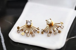 NEW Authentic Christian Dior 2019 CD DIORAINBOW CRYSTAL LOGO STAR Earrings image 4