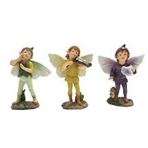 Mini Fairy Garden Boy Fairies Set of 3 Decorative Garden Enchantment Fig... - €18,59 EUR