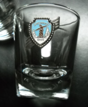 Cincinnati Ohio Shot Glass with Metal Shield Style Enamel Attached Clear... - $7.99