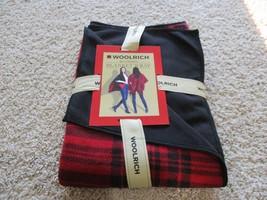 BNWT Woolrich reversible Blanket wrap, one size, poly, chili checks/blk,... - $32.73