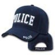 Police White Letters Embroidered Blue Hat Cap - $31.58