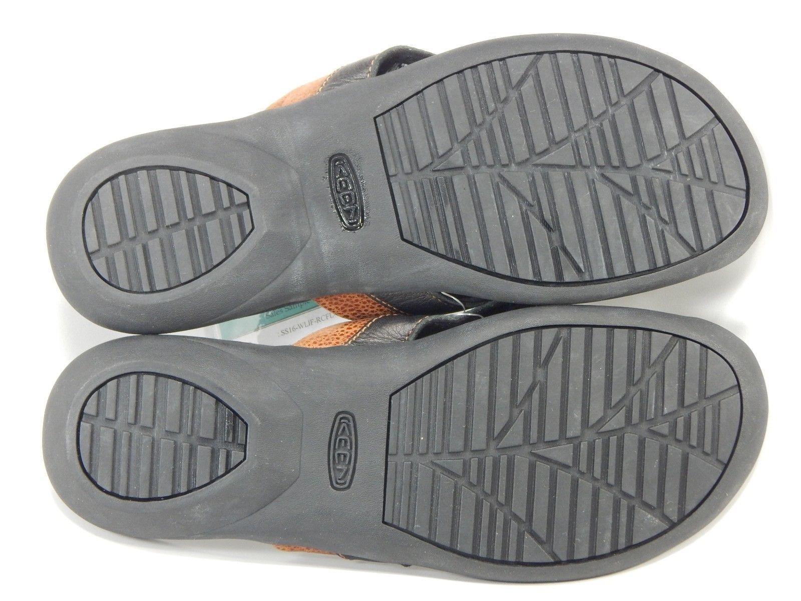 Keen Rose CIty Flip Flop Women's Sport Sandals Size 7 M EU 37.5 Black Tortoise