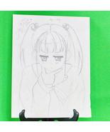 Original Signed Anime Art By April - Pencil Sketch, 9 X 12 - $3.95