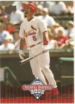 Albert Pujols UD 08 National Baseball Card Day #UD11 St Louis Anahiem An... - $0.50