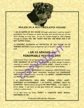 Rules In A Rottweiler's House - $20.70