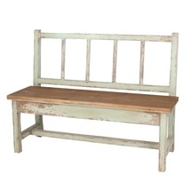 Naturalist Shabby Chic Outdoor Distressed Wood Garden Bench,50''L. - $589.05