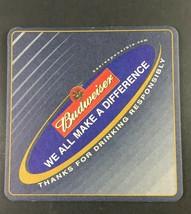Anheuser Busch BUDWEISER We All Make A Difference Coaster - $3.95