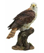 """Ebros Gift Red Tailed Hawk Perching On Tree Stump Statue 10"""" Tall Figurine - $29.99"""