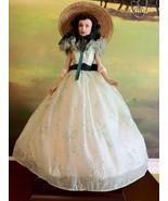 The Franklin Mint - Scarlett O'Hara in Printed Organza Doll Gone With th... - $250.00