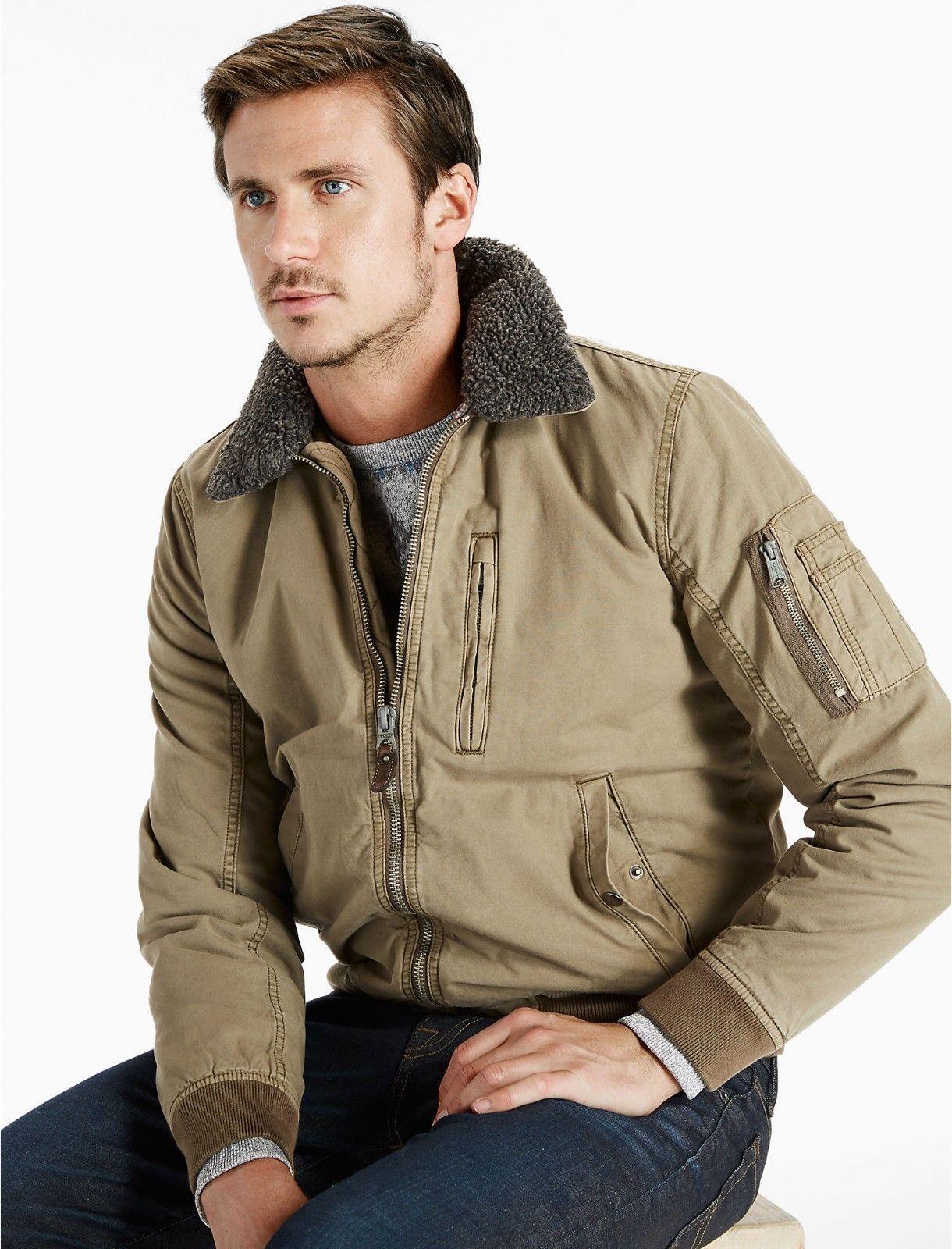 NEW Men's Lucky Brand B-15 Flight Jacket Olive Green Military Coat LRG  $169