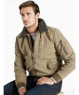 NEW Men's Lucky Brand B-15 Flight Jacket Olive Green Military Coat LRG  ... - $109.94