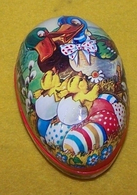 Vintage Paper Mache Easter Egg Gift Box GDR Germany