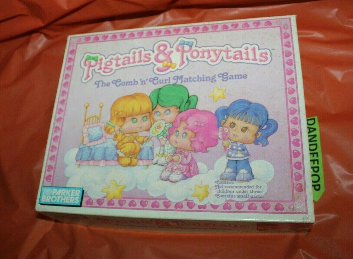 Parker Brothers Pigtails And Ponytails Comb and Curl Vintage Board Game 1989