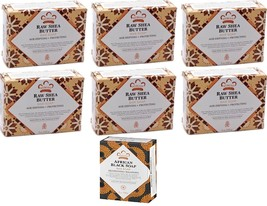 Nubian Heritage (6)  5 oz,  Raw Shea Butter Soaps  + (1) Bonus Bar- as S... - $19.31