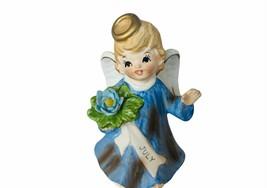 Lefton Angel Figurine vtg porcelain Japan gift decor antique 4th July bi... - $29.65