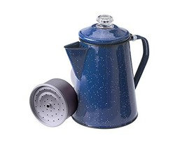 GSI Outdoors Enamelware Percolator Coffee Pot, 8-Cup, Blue - $31.32