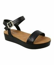 TOP MODA, Black Cato Sandal, Sz 5 - $17.82